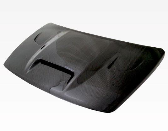 VIS Racing 07DGCAL4DSRT-010C SRT Style Black Carbon Fiber Hood Dodge Caliber (non srt) 07-09