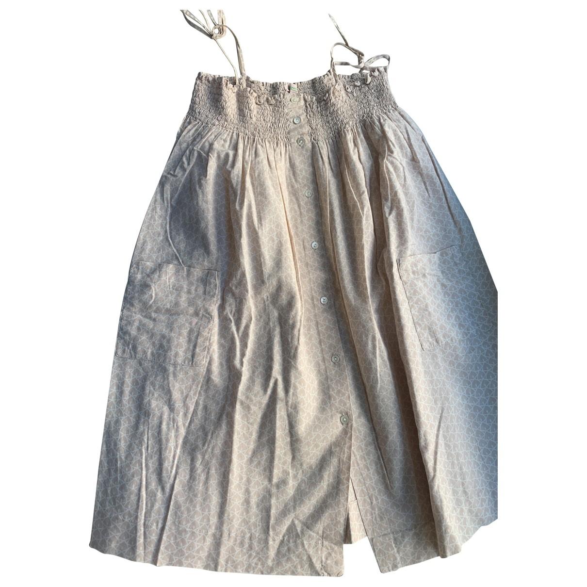 Bonpoint - Robe    pour enfant en coton - ecru