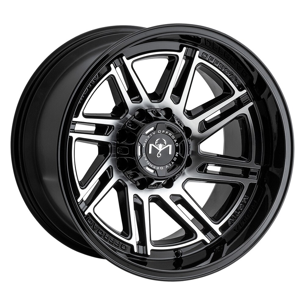 Motiv 425mb 20x9 5x139.7/5x150 +18et 110.20mm machined gloss black wheel