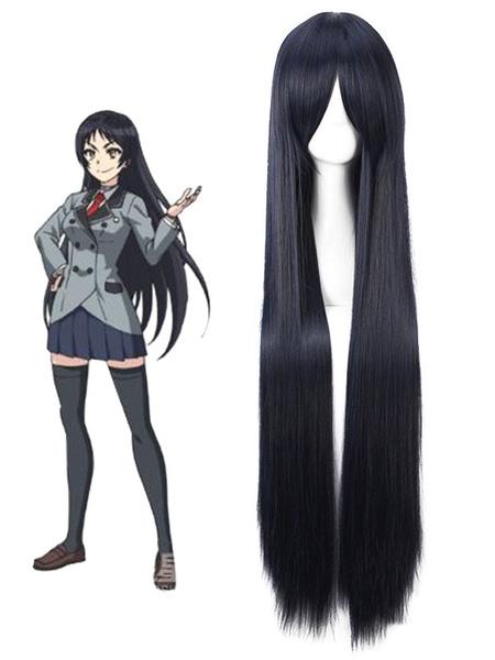 Milanoo Shimoneta A Boring World Where The Concept Of Dirty Jokes Doesn't Exist Ayame Kajou Blue Snow Cosplay Wig Halloween