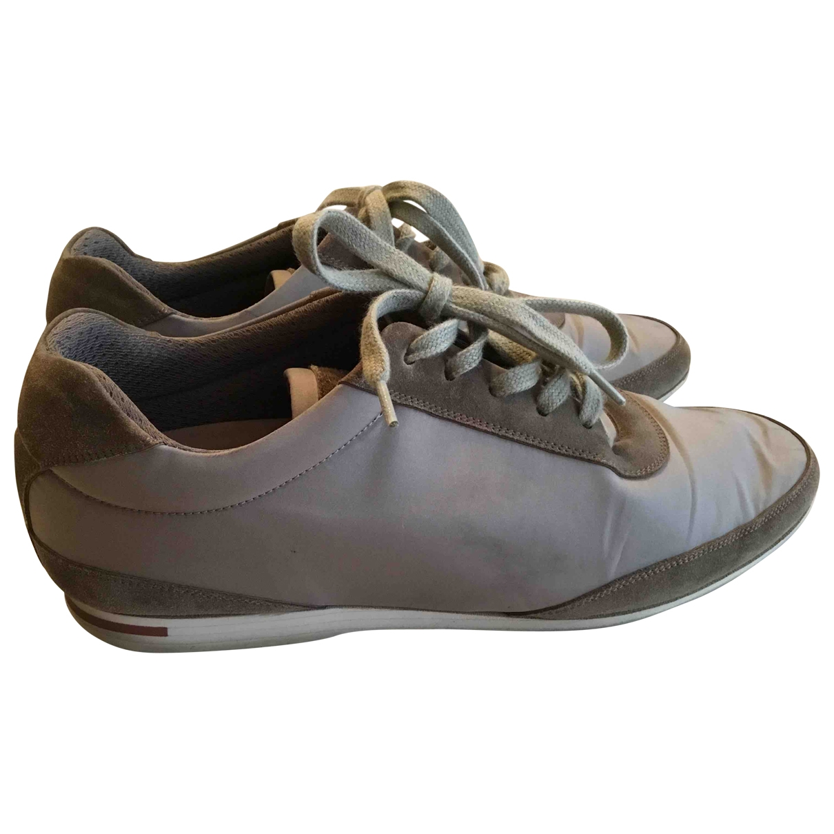 Loro Piana \N Grey Cloth Trainers for Men 40 EU