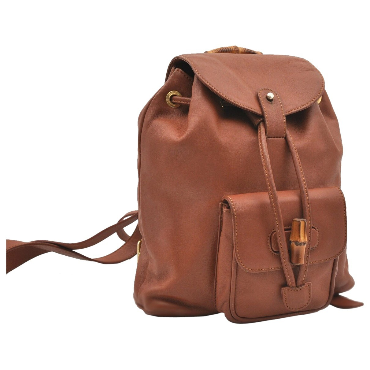 Gucci N Brown Leather backpack for Women N