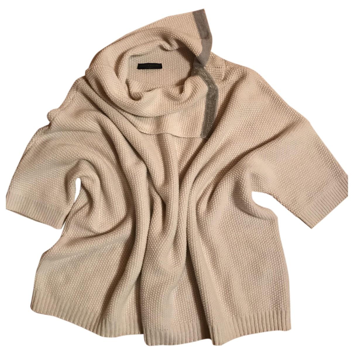 Fabiana Filippi N Ecru Wool Knitwear for Women 44 IT
