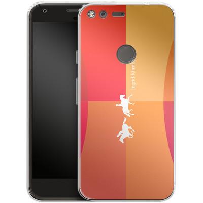 Google Pixel Silikon Handyhuelle - Geometric Silhouette von Ingrid Klimke