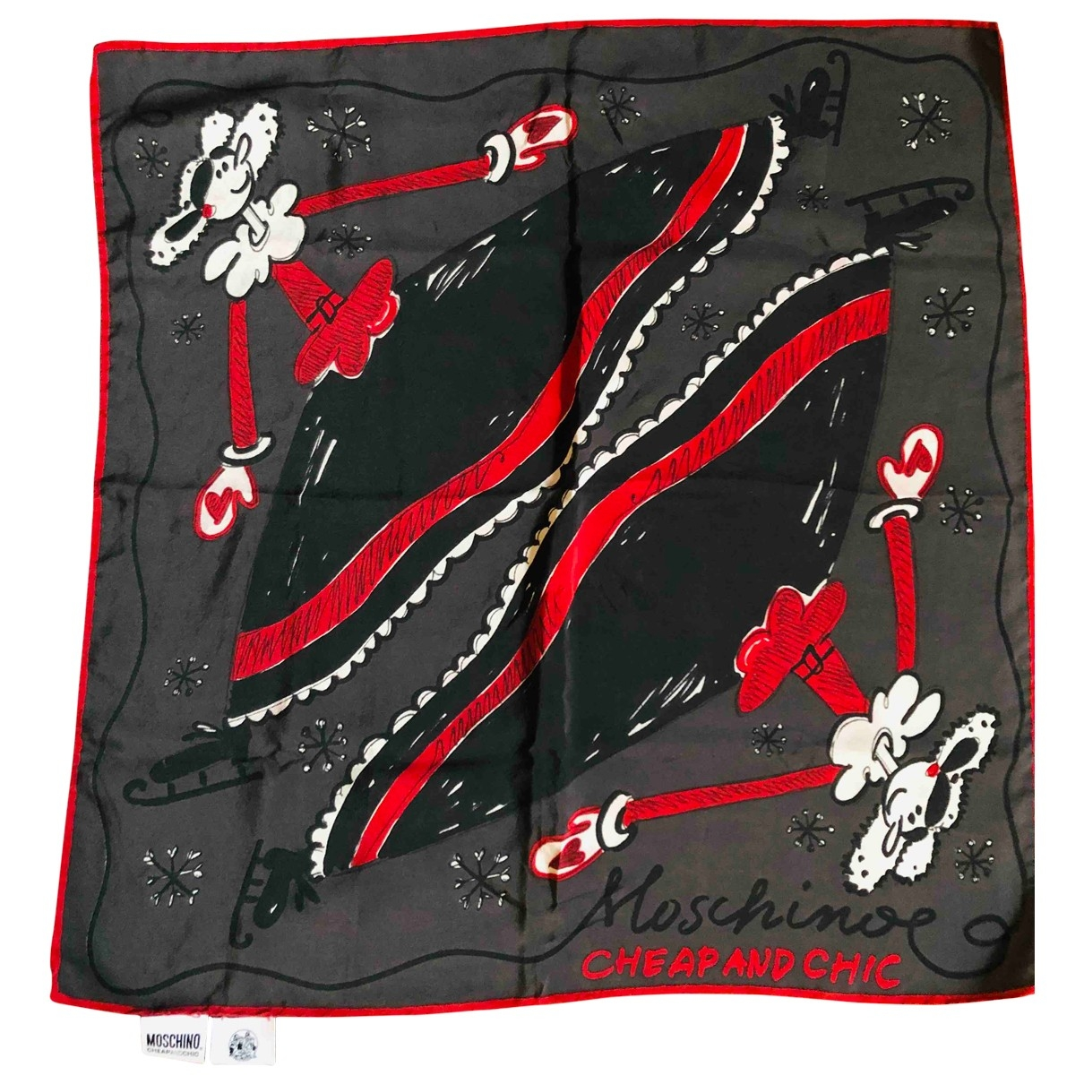 Moschino Cheap And Chic \N Black Silk scarf for Women \N