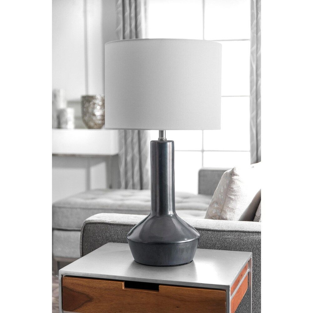 nuLOOM 27'' Jova Ceramic Linen Shade Table Lamp - 27