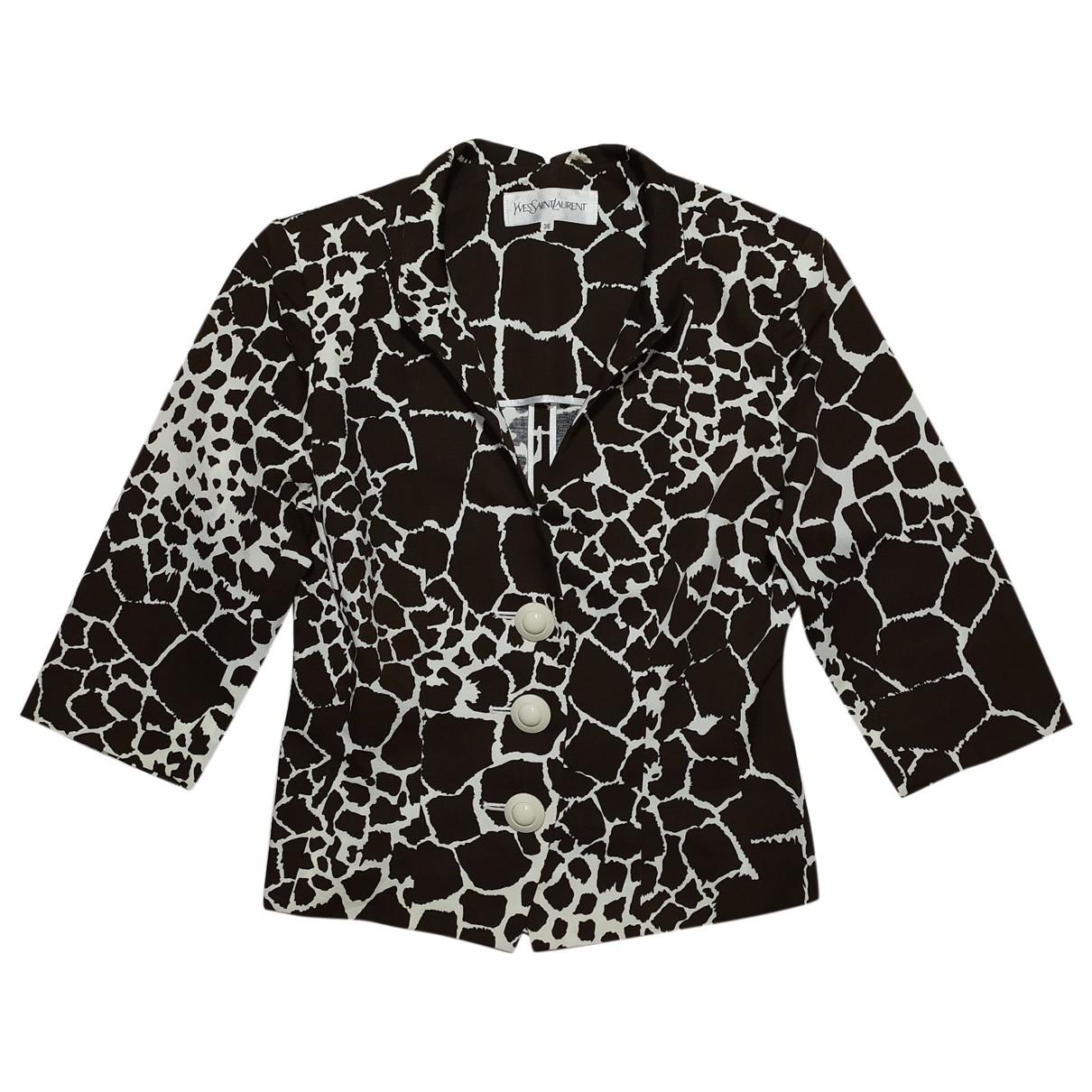 Yves Saint Laurent \N Brown Cotton  top for Women S International