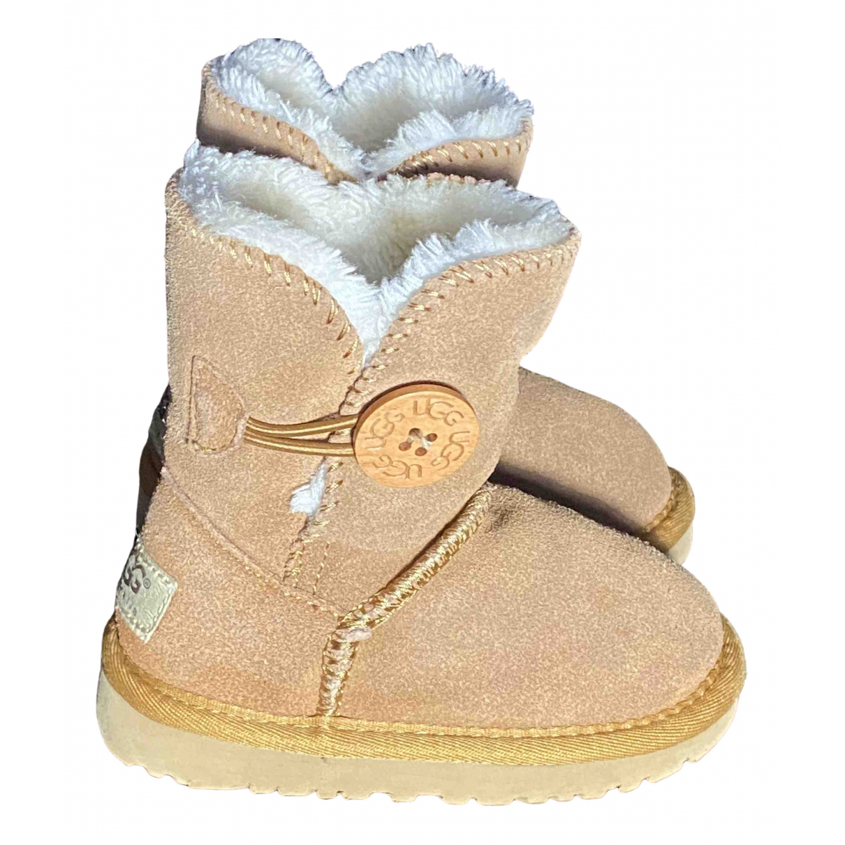 Ugg \N Brown Suede Boots for Kids 24 FR
