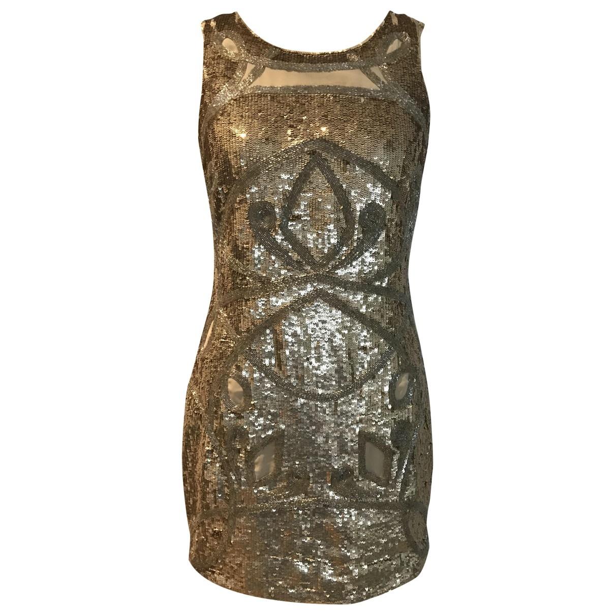Needle & Thread \N Kleid in  Gold Mit Pailletten