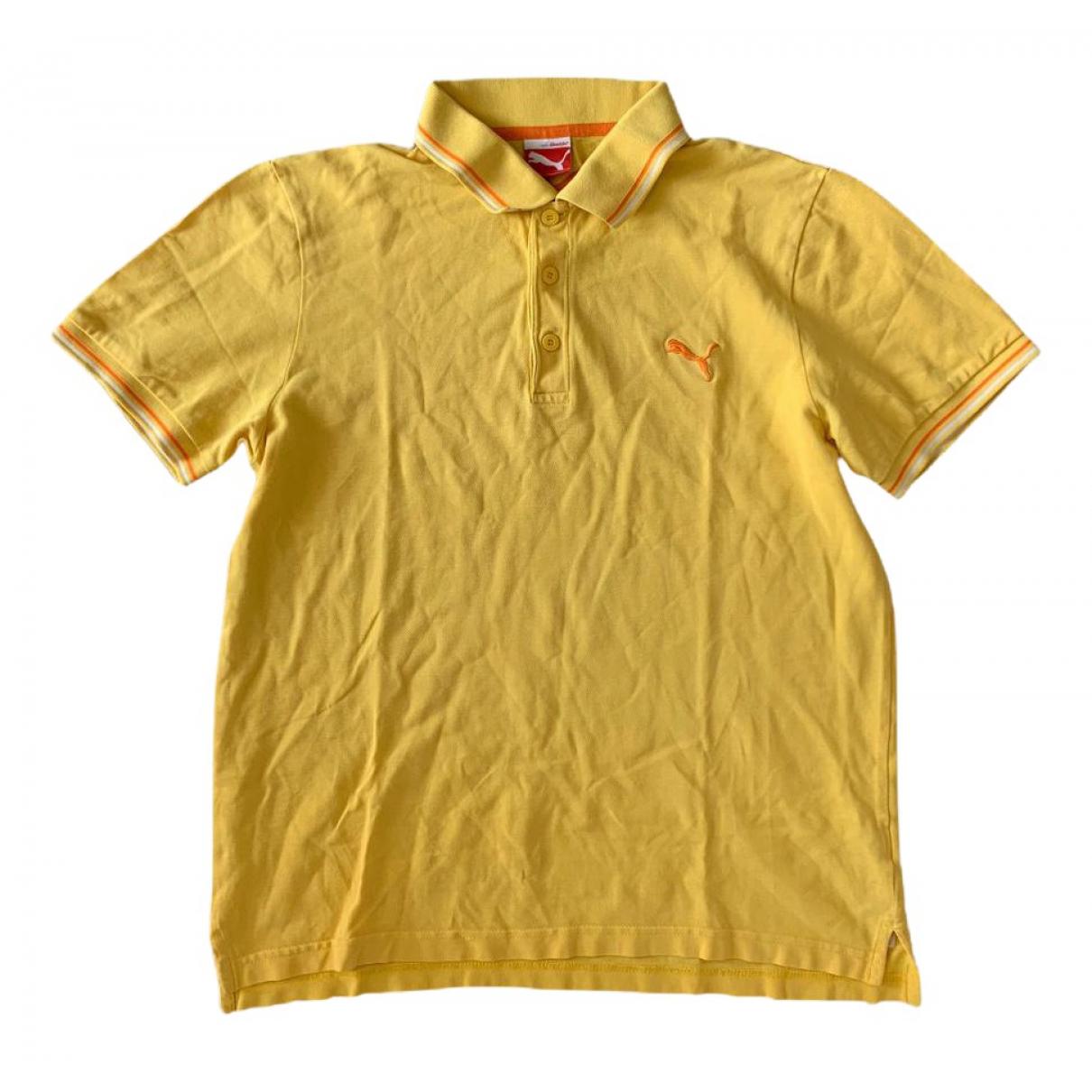 Puma \N Poloshirts in  Gelb Baumwolle