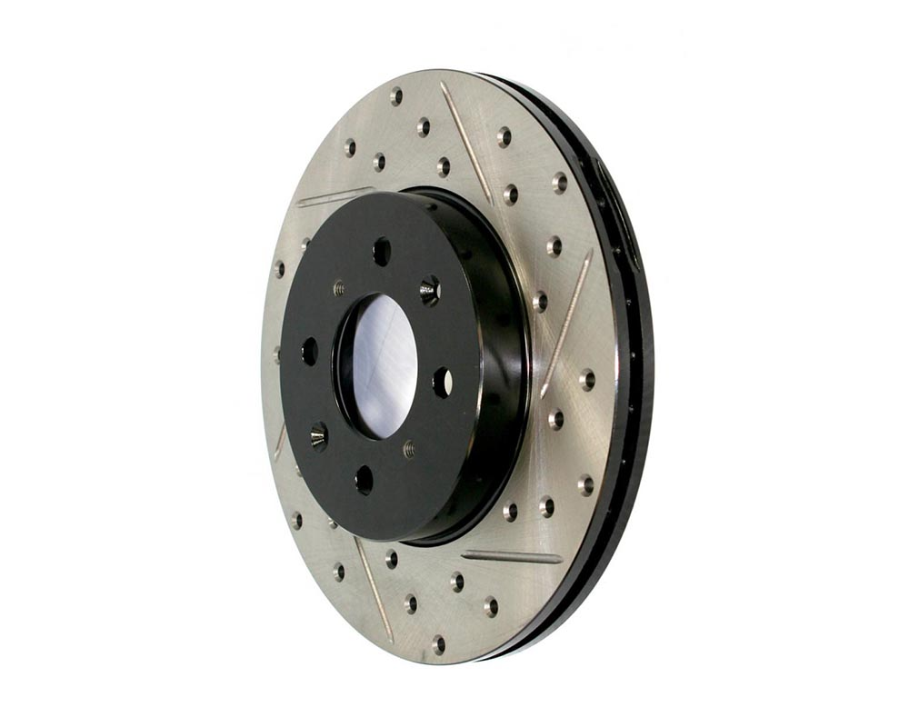 StopTech 127.35090R Sport Drilled/Slotted Brake Rotor; Rear Right Mercedes-Benz Rear Right