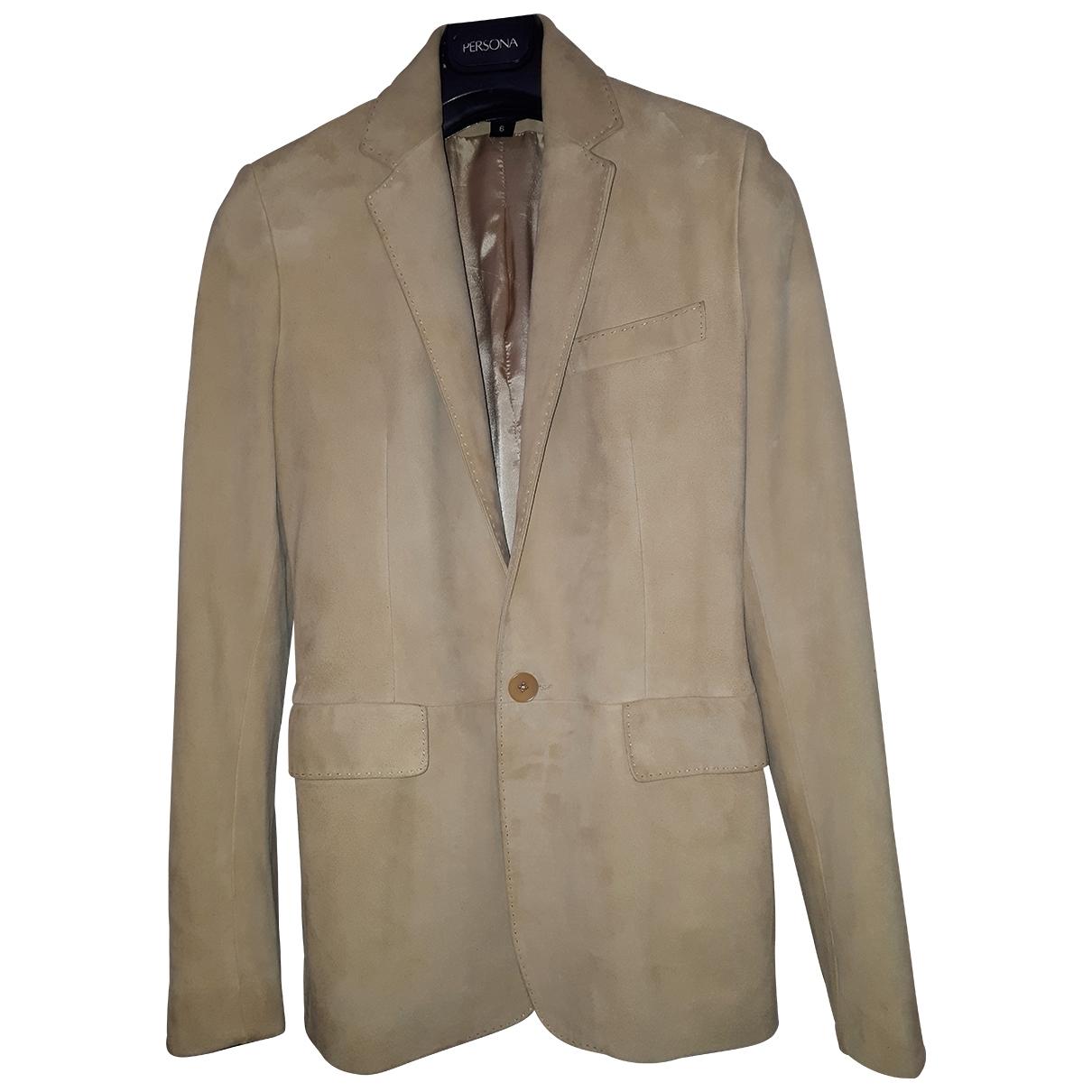 Ralph Lauren Collection \N Beige Suede jacket  for Men S International