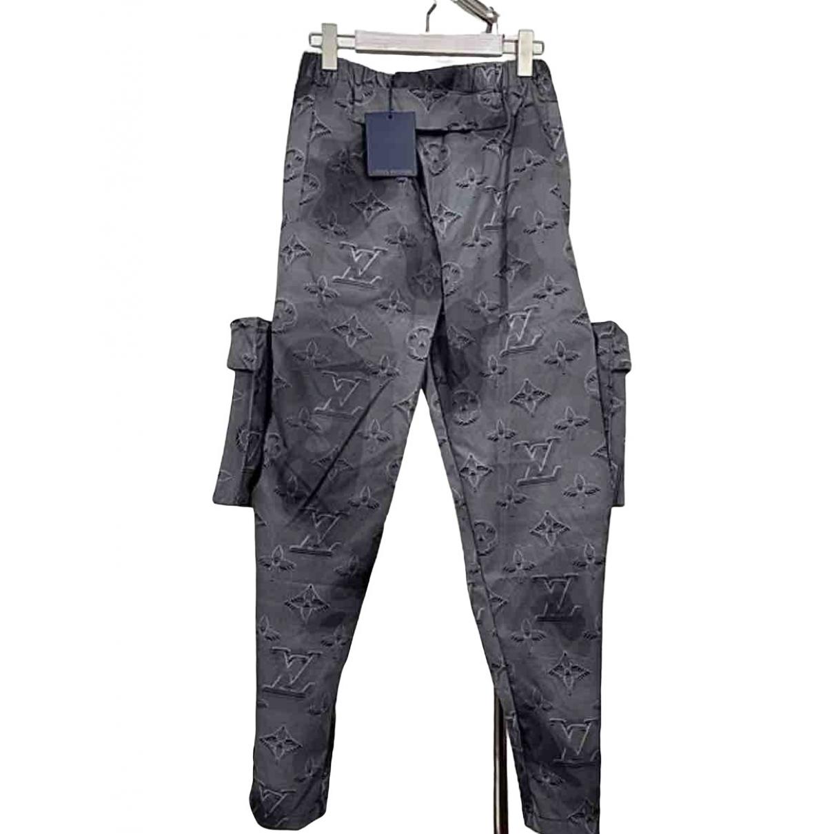 Pantalones en Sintetico Gris Louis Vuitton