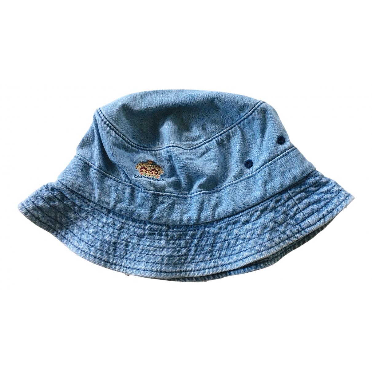 Supreme \N Hut, Muetzen in  Blau Baumwolle