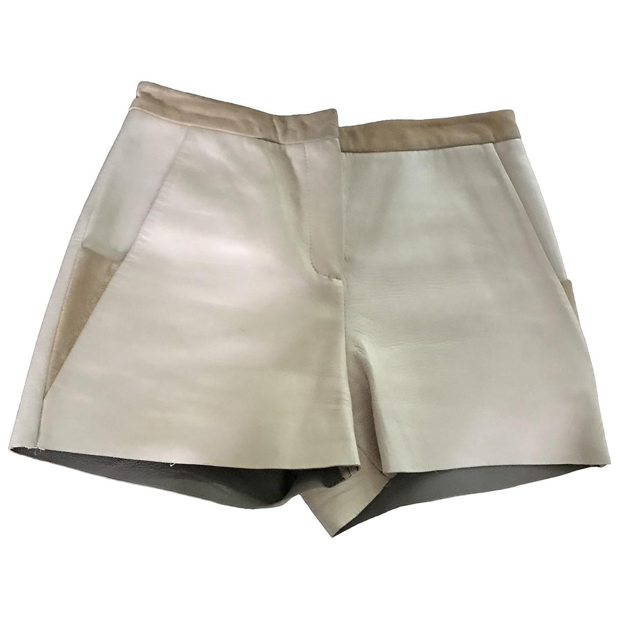 Gilmar \N Shorts in  Beige Leder