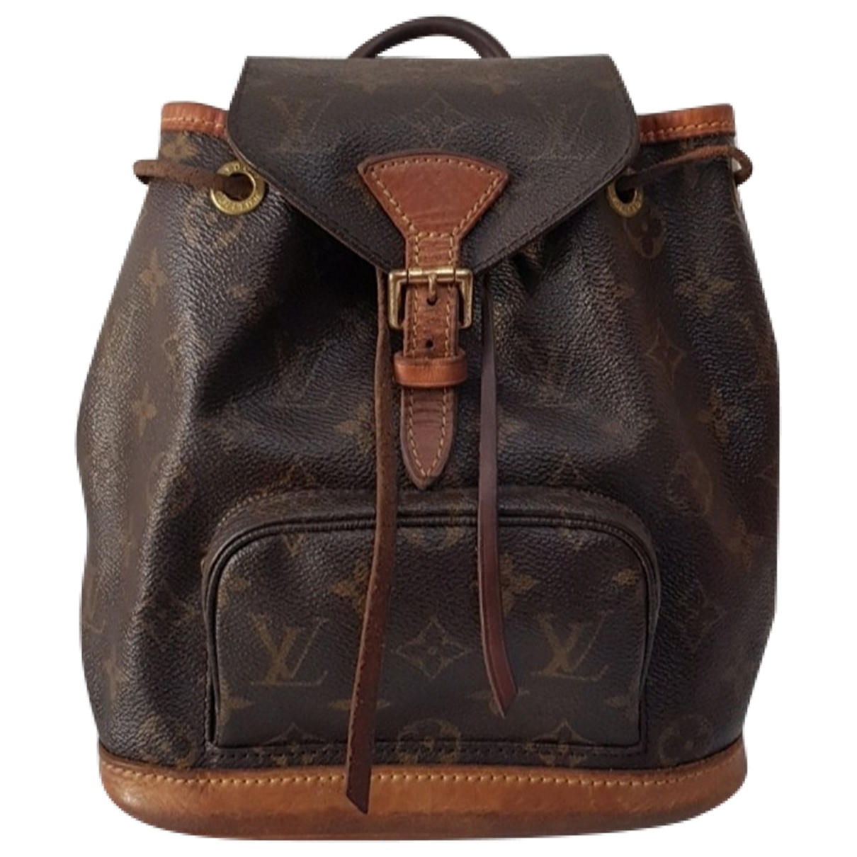 Louis Vuitton Montsouris Brown Leather backpack for Women \N