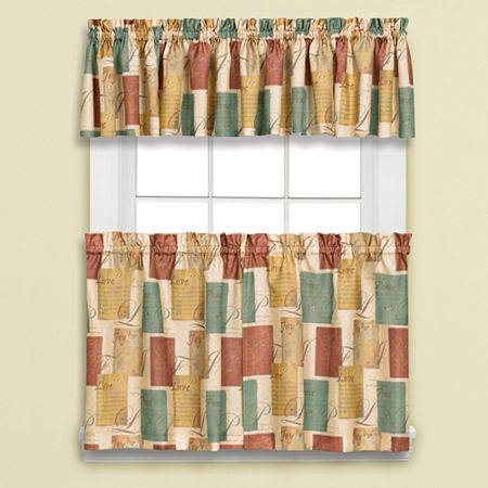 Tranquility Rod-Pocket Window Tiers, One Size , Brown