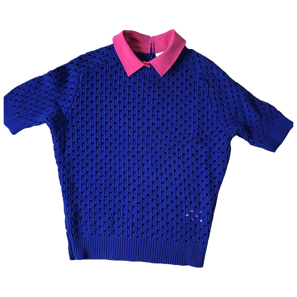 Carven N Blue Cotton Knitwear for Women M International