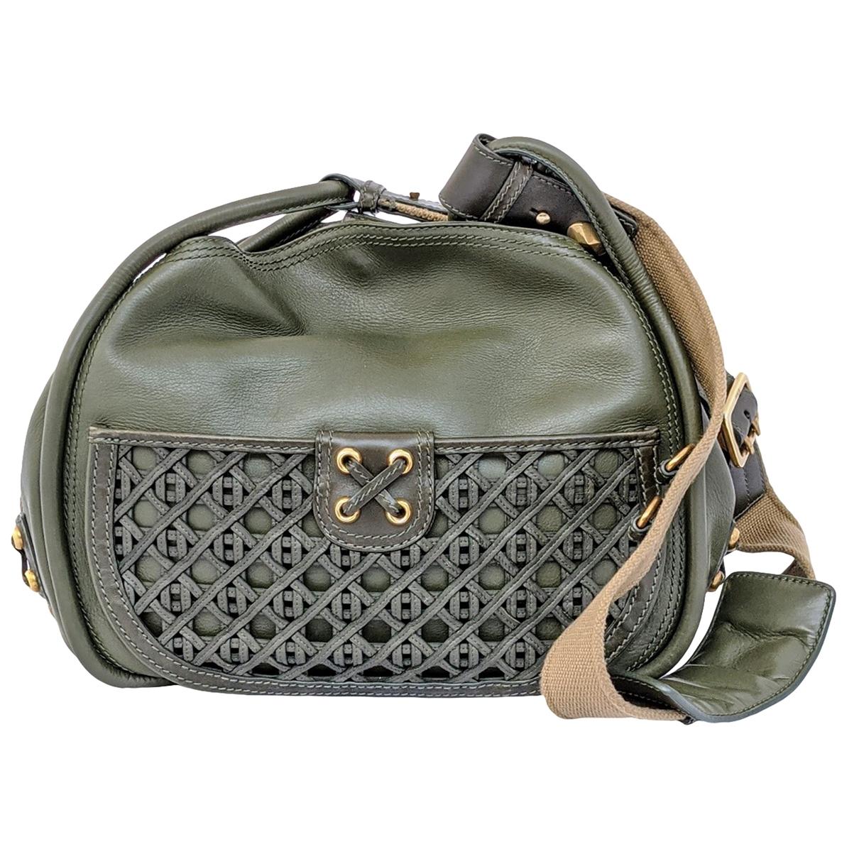 Dior \N Khaki Leather handbag for Women \N