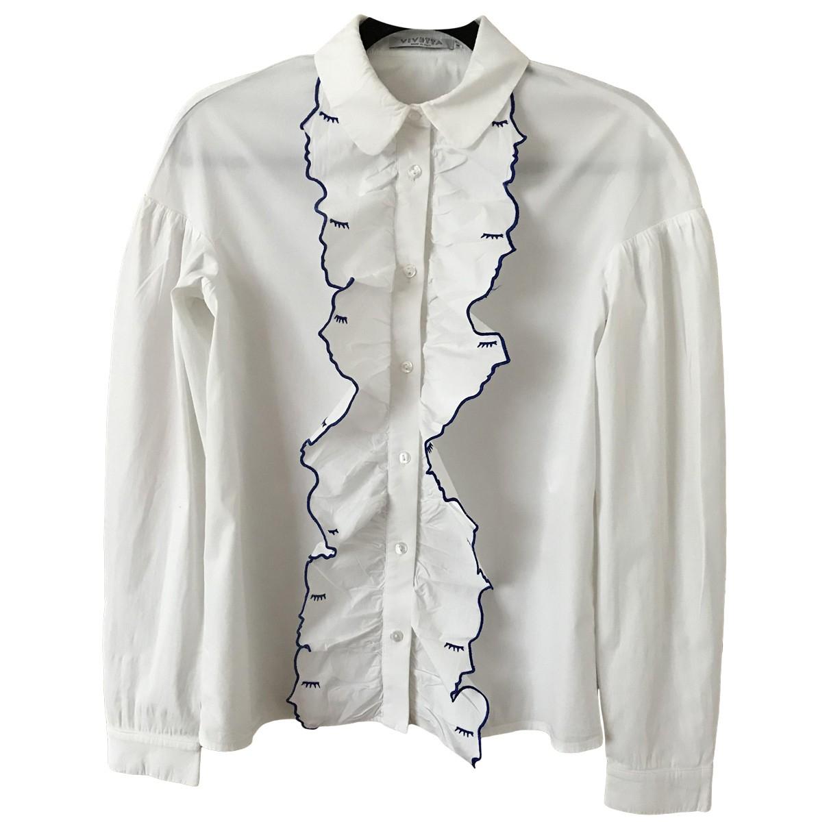 Vivetta - Top   pour femme en coton - blanc