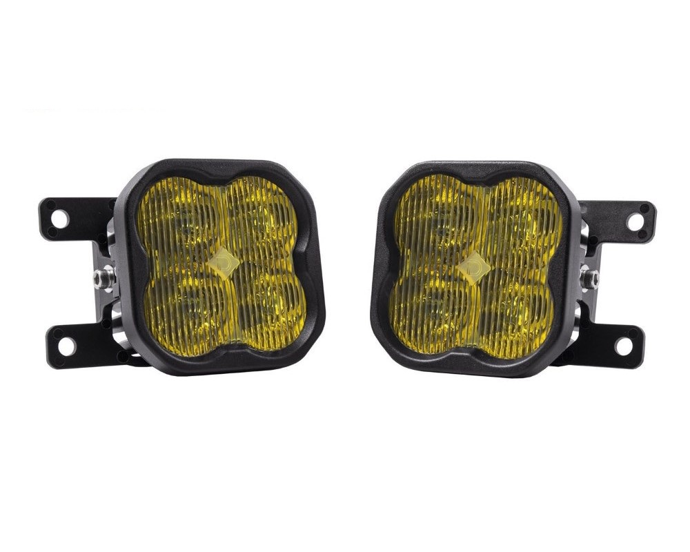 Diode Dynamics DD6347 SS3 Stage Series Pro Yellow Wide Beam Fog Light Kit Ford Ranger 2019-2020