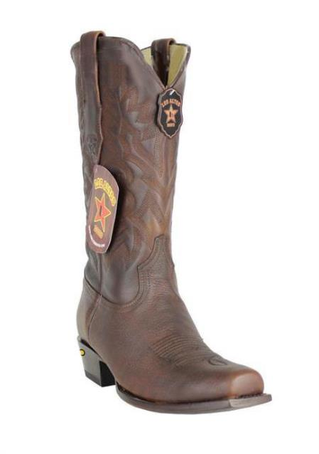 Men's Premium Leather Handmade Los Altos 7 Toe Walnut Cowboy Boots