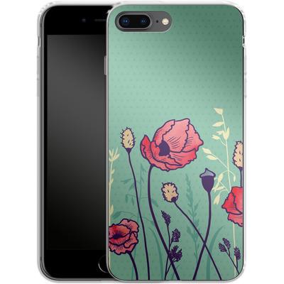 Apple iPhone 8 Plus Silikon Handyhuelle - Summer Field von Little Clyde