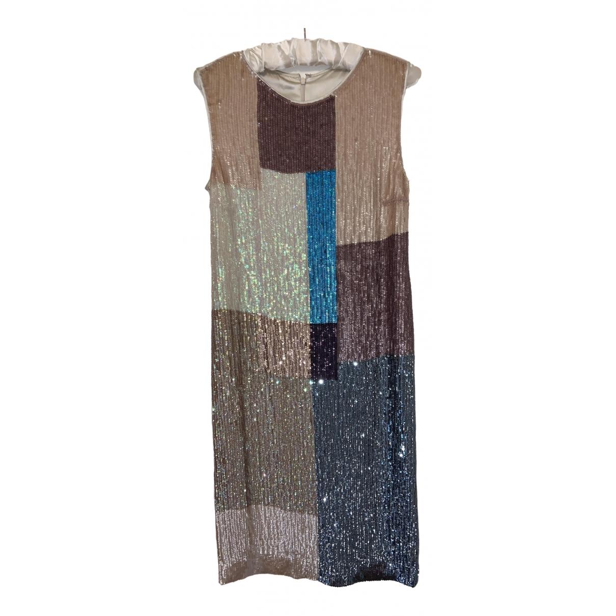 Megan Park \N Beige Silk dress for Women 1 US