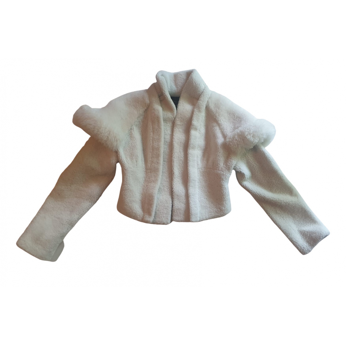 Burberry \N Ecru Shearling Leather jacket for Women 4 UK