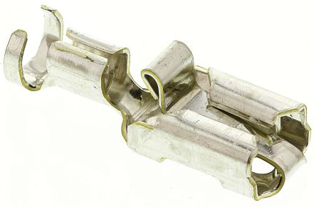 TE Connectivity Positive Lock .250 Mk I Series Crimp Receptacle, 6.35 x 0.81mm, 2.5mm² to 4mm², 13AWG to 11AWG, Tin (100)