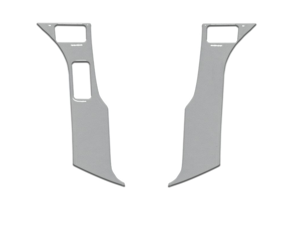 Tufskinz TAC038-RUN-GGY-G Steering Wheel Trim With 3 Buttons Fits 2014-2020 Toyota 4Runner 2 Piece Kit In Cement Gray