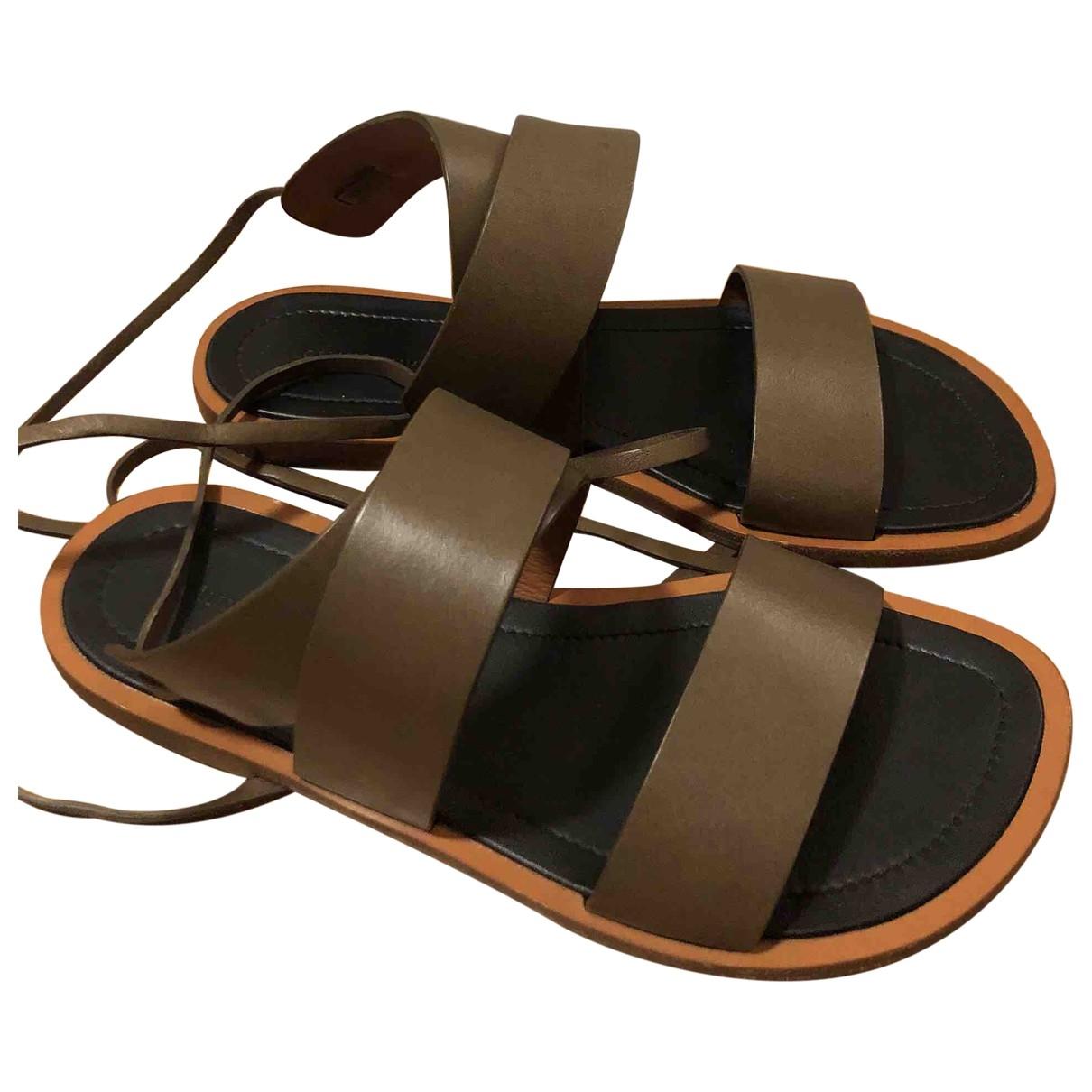 Celine - Sandales   pour femme en cuir - gris
