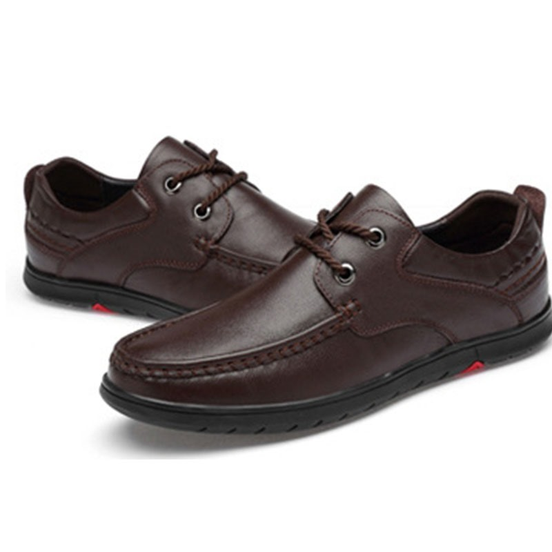 Ericdress Plain Lace-Up Round Toe Men's Comfortable Shoes