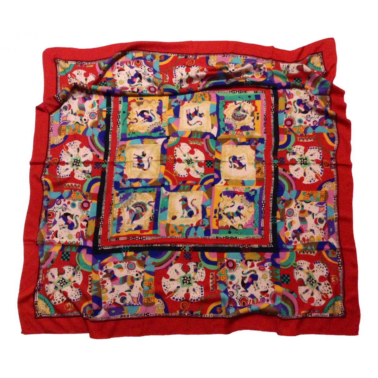 Louis Feraud - Carre   pour femme en soie - multicolore