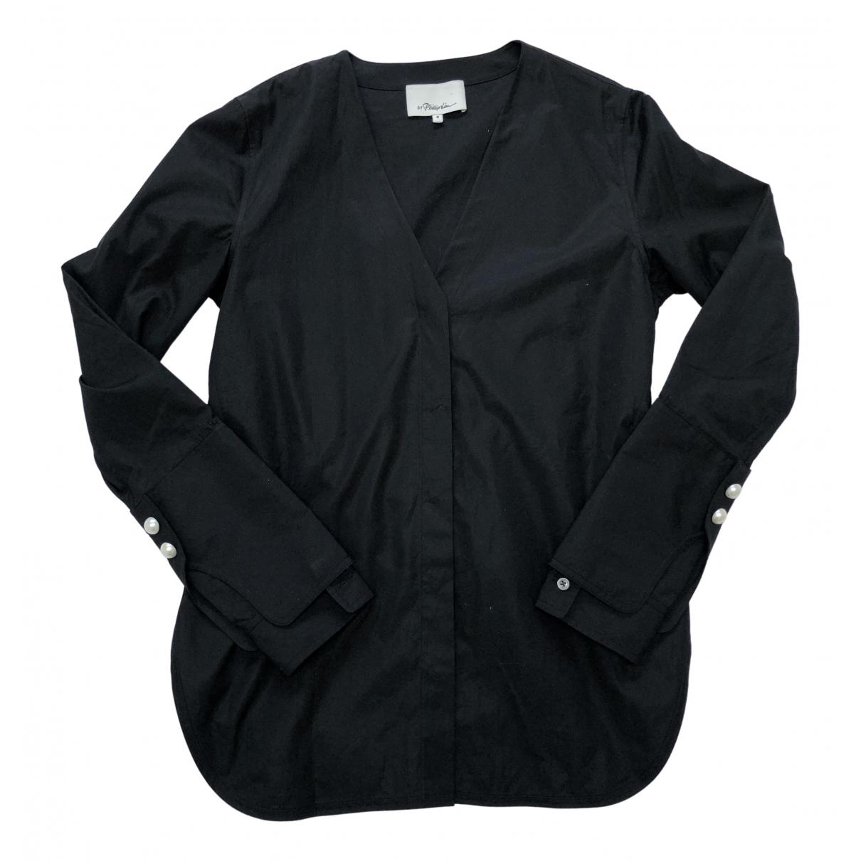 3.1 Phillip Lim - Top   pour femme en coton - noir
