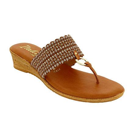 Italiana By Italian Shoemakers Womens Barby Wedge Sandals, 6 1/2 Medium, Multiple Colors