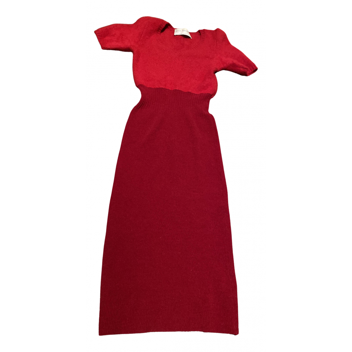 Anna Molinari \N Kleid in  Rot Wolle