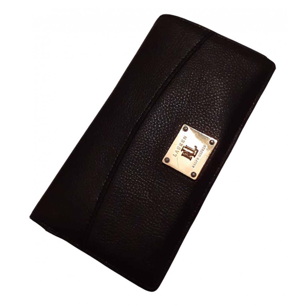 Lauren Ralph Lauren - Portefeuille   pour femme en cuir - noir