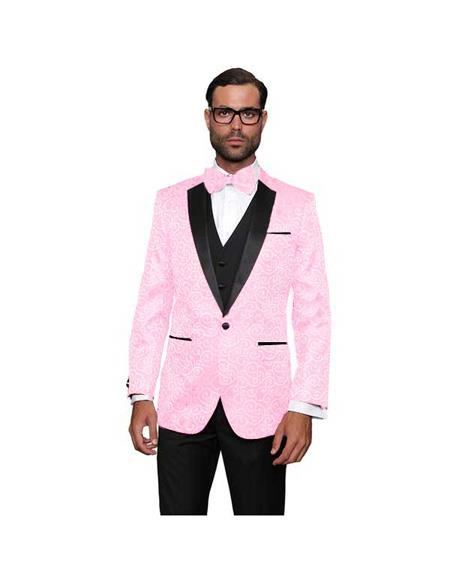 Pink Wool One Button Suit