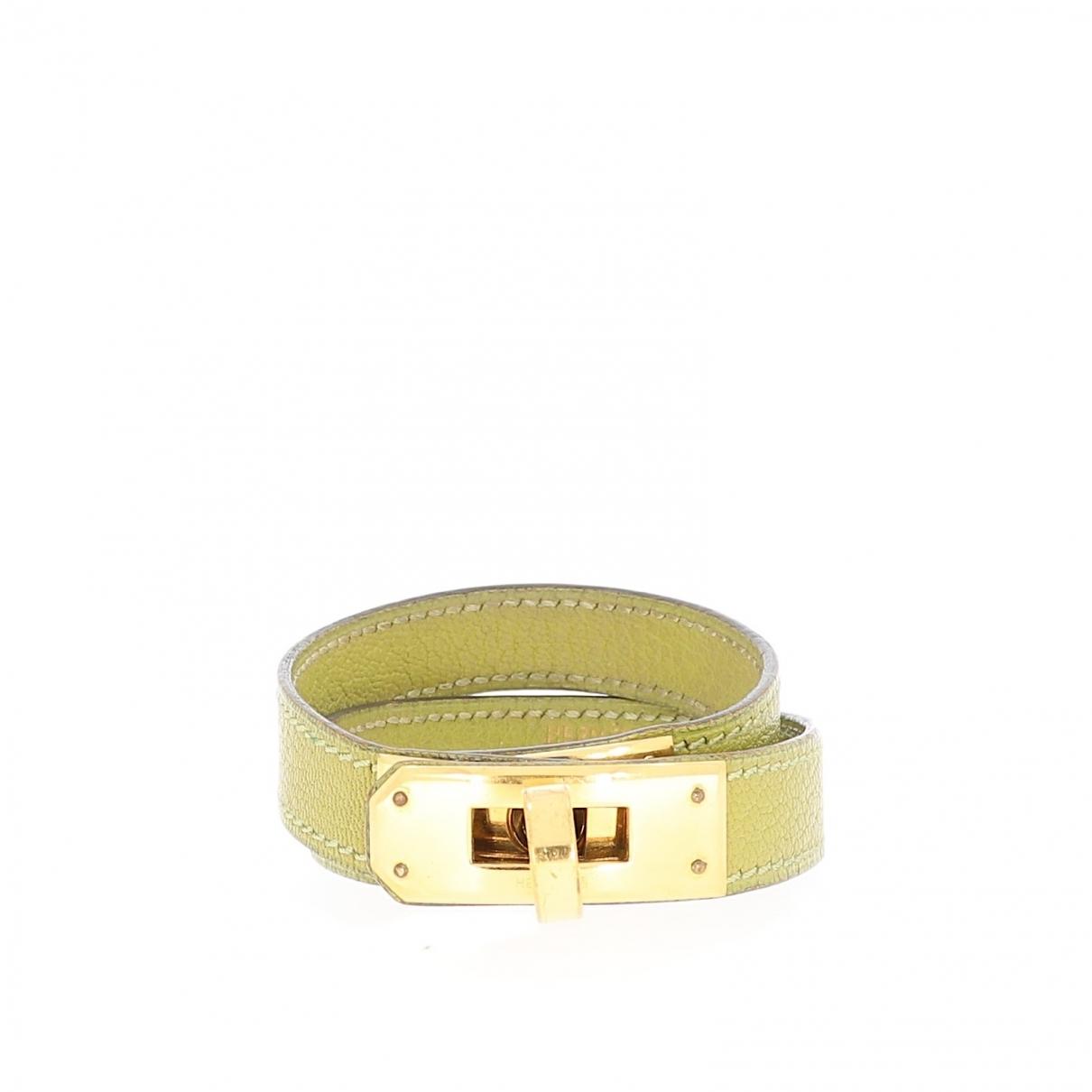 Hermes - Bracelet   pour femme en cuir - vert