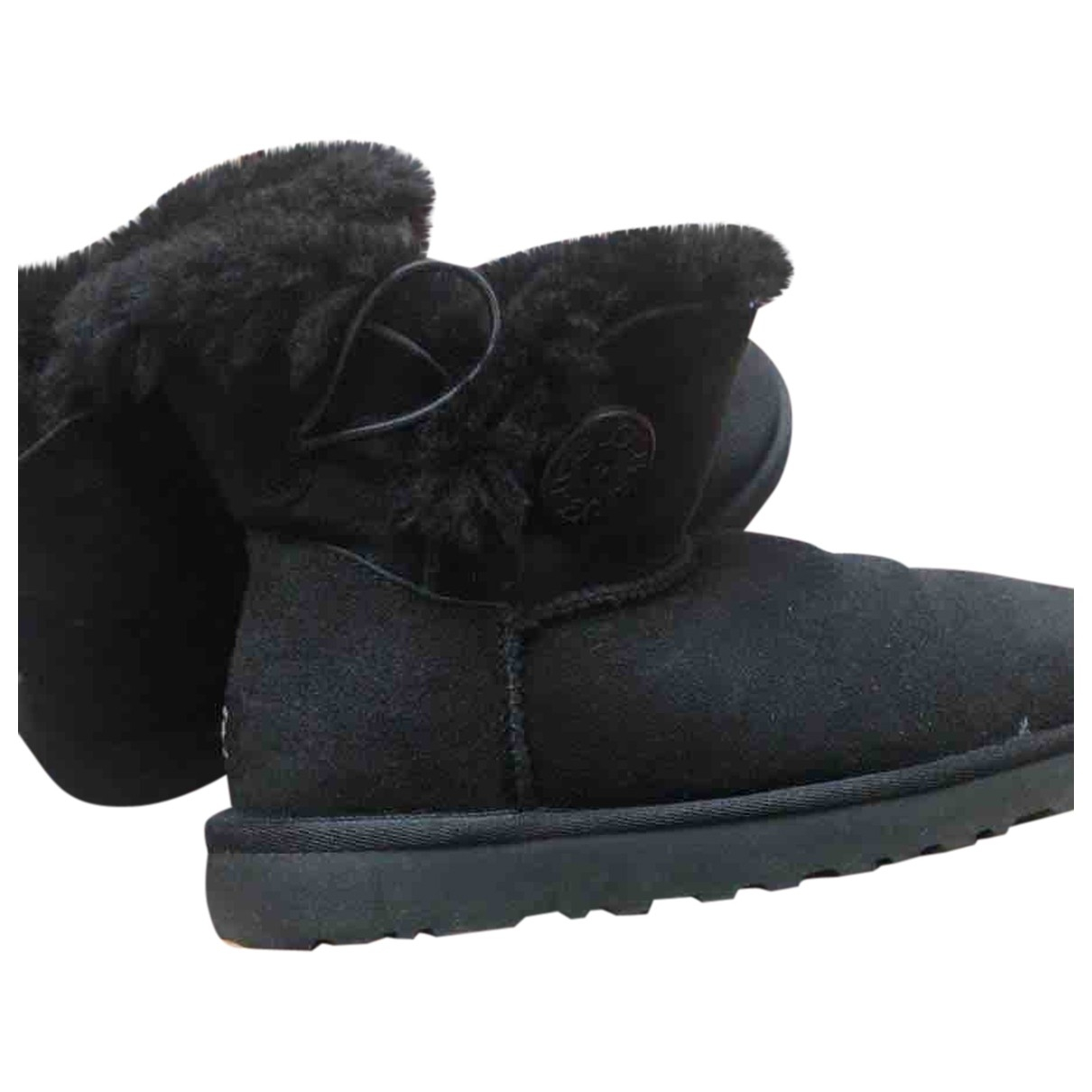 Ugg \N Black Suede Boots for Women 3.5 UK