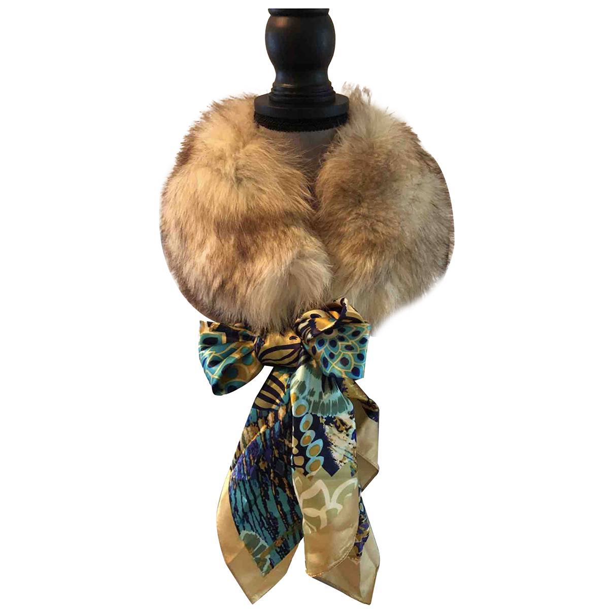 - Foulard   pour femme en racoon - beige