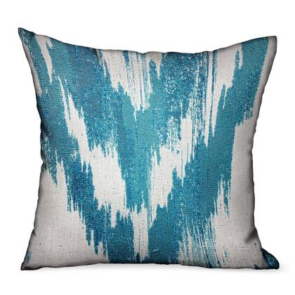 Teal Avalanche Collection PBDUO113-2424-DP Double sided 24 x 24 Blue Ikat Luxury Outdoor/Indoor Throw