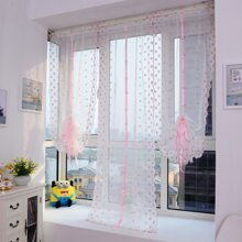 1pc Flower Embroidery Decoration Curtain