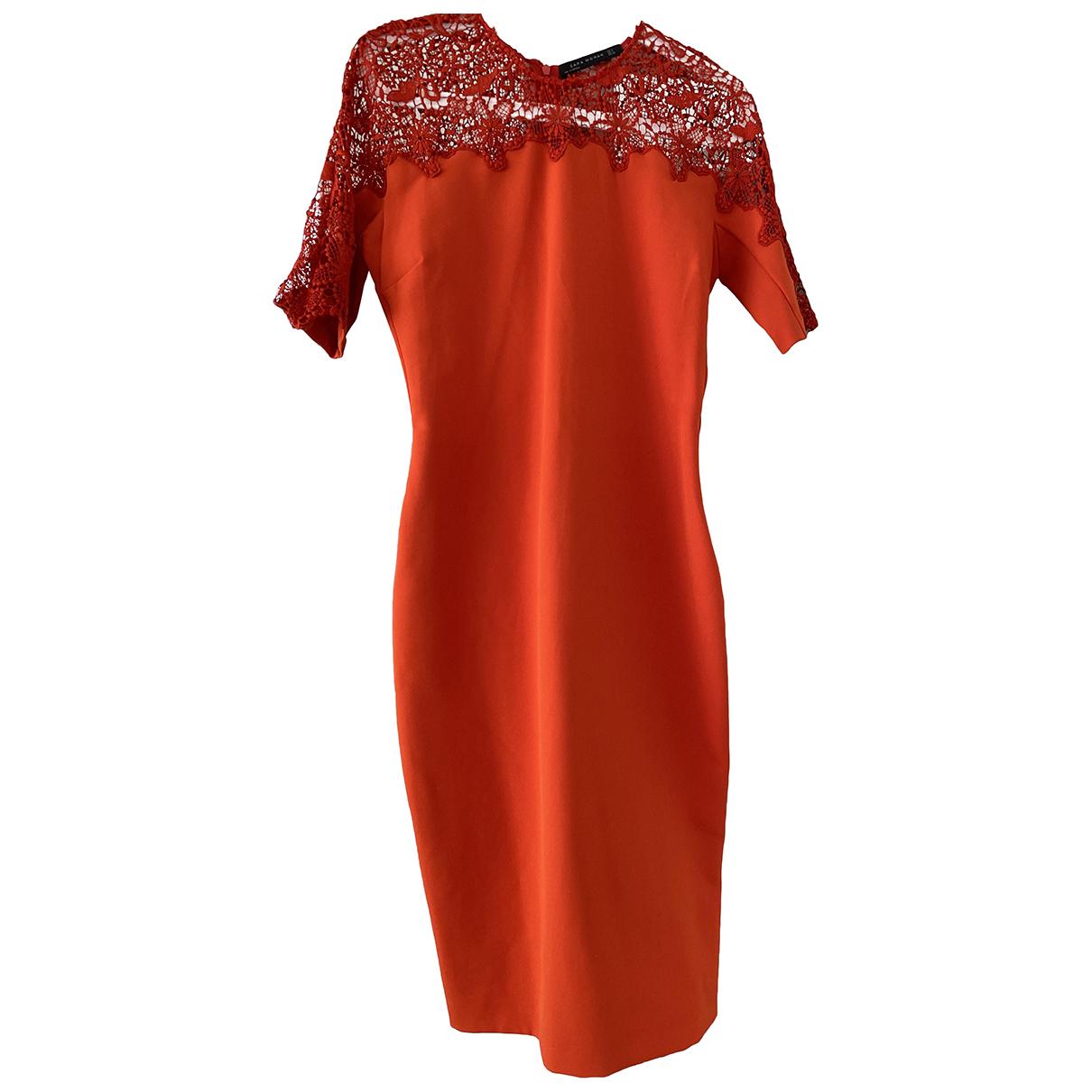 Zara \N Kleid in  Orange Baumwolle