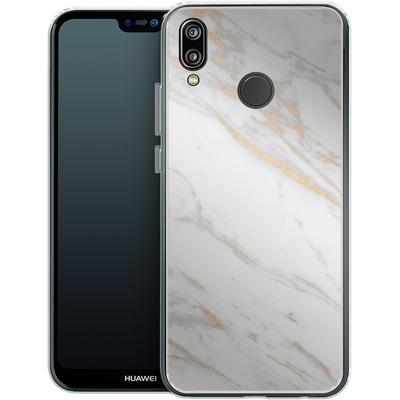 Huawei P20 Lite Silikon Handyhuelle - Gold Marble Elegance von #basic