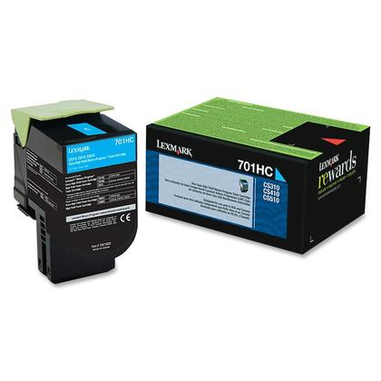 Lexmark 701HC 70C1HC0 Original Cyan Return Program Toner Cartridge High Yield