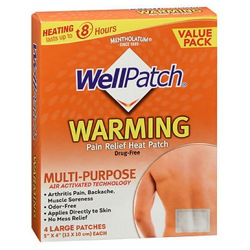 Wellpatch Warming Pain Relief Patch Large 4 each by Wellpatch