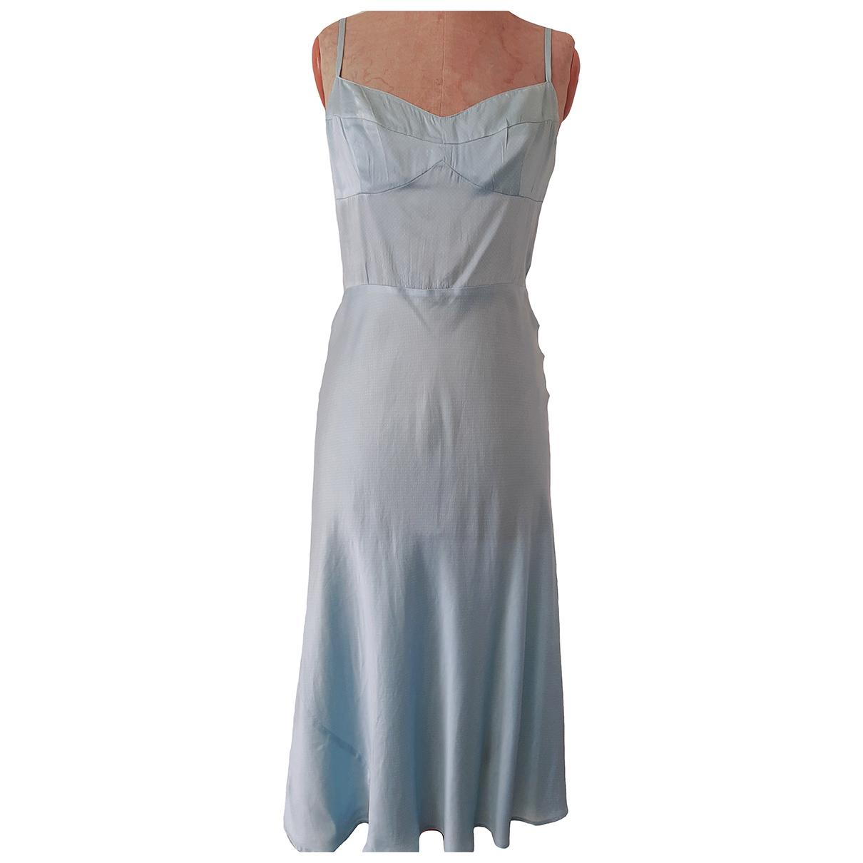 Tara Jarmon \N Blue Silk dress for Women 38 FR