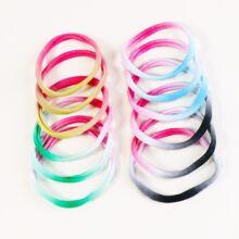12pcs Tie Dye Pattern Hair Tie